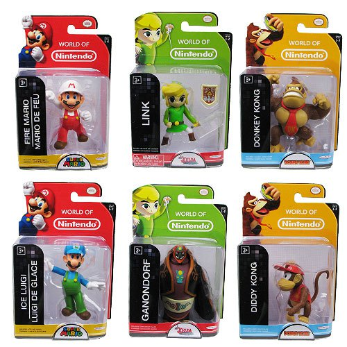 These are just a few of the many World of Nintendo Action Figures.