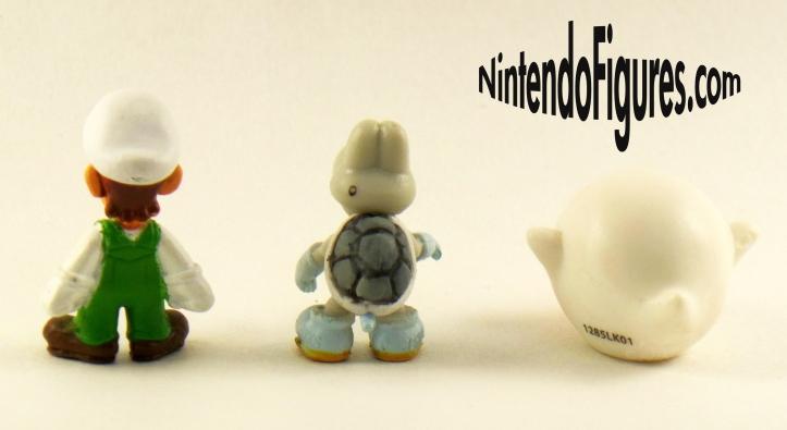Fire Luigi, Boo, Dry Bones, Micro Land Figures