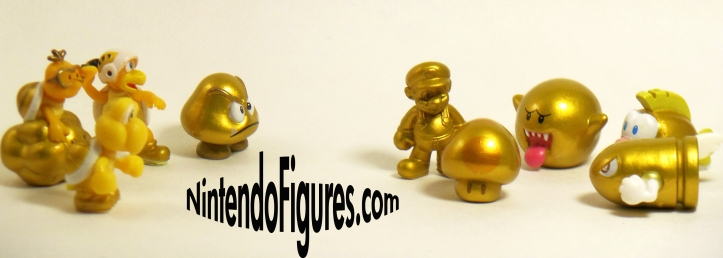 New Super Mario Bros 2 Gold Figures