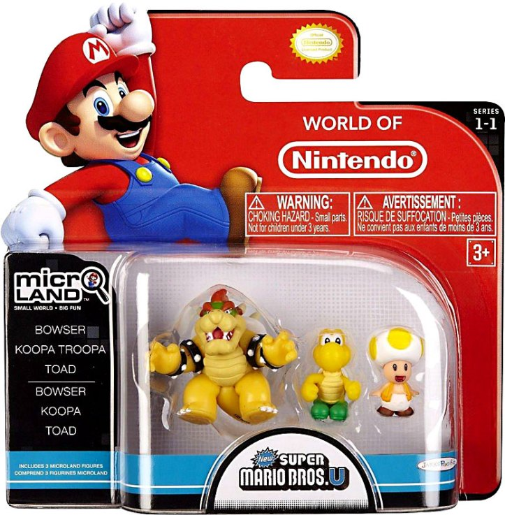 Micro Land Bowser Figure