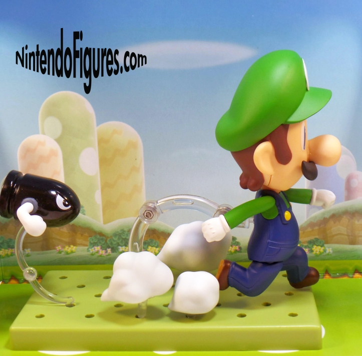 Luigi Running From Bullet Bill Nendoroid