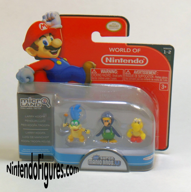 Larry Koopa Penguin Luigi Red Koopa Troopa Micro Land