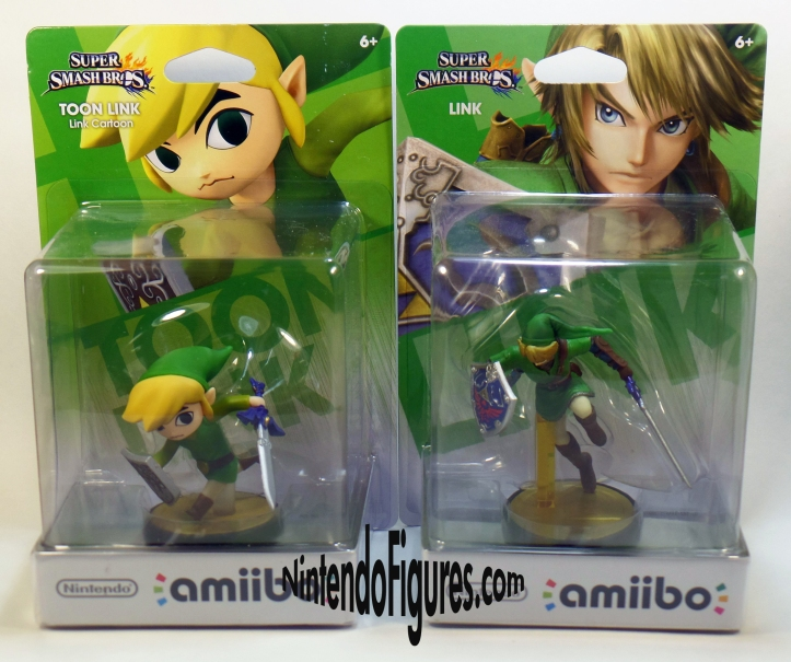 Link and Toon Link Amiibo Box