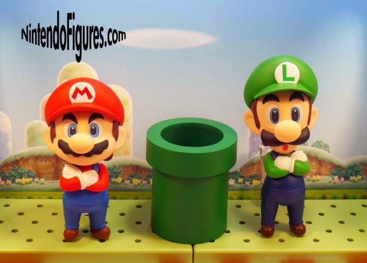 Mario and Luigi Nendoroid Height Comparison