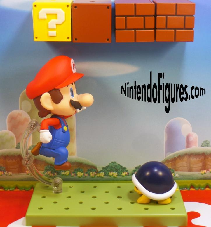 Mario Nendoroid Jumping Near Buzzy Beetle