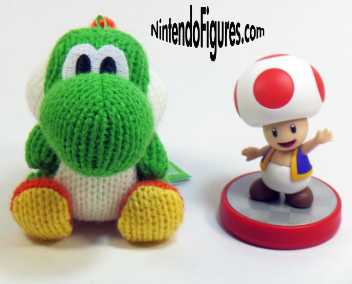 Yarn Yoshi Amiibo with Toad