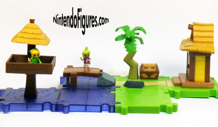 World of Nintendo Micro Land Zelda Wind Waker Combined Playsets