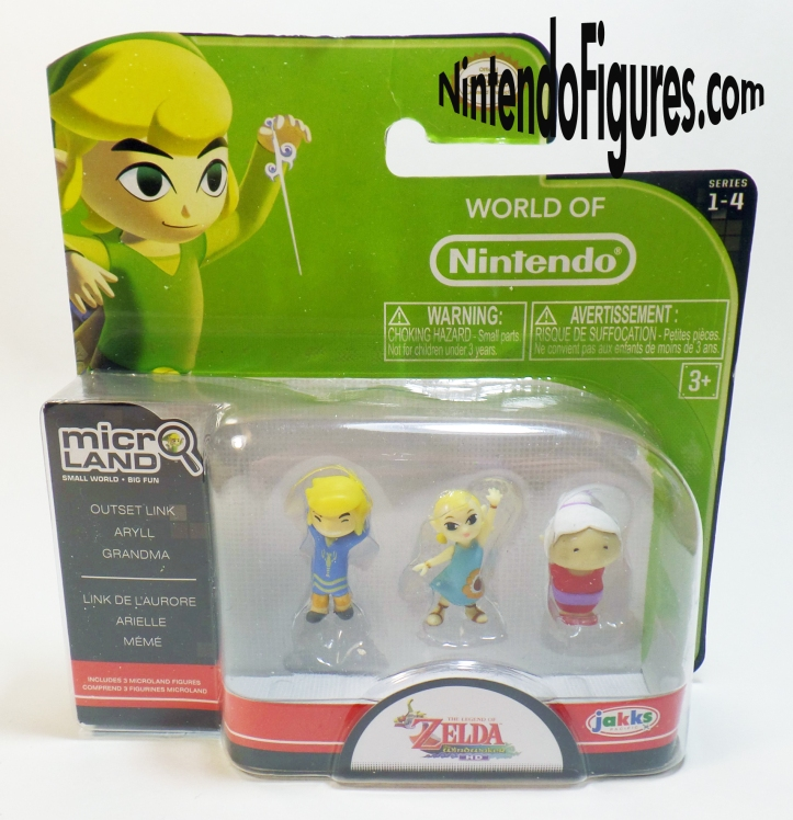 Legend of Zelda Wind Waker Micro Land Bokoblin Aryll Grandma Link Figure Pack