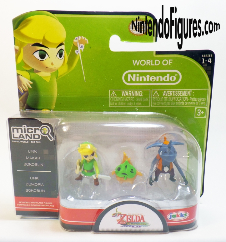 Legend of Zelda Wind Waker Micro Land Bokoblin Makar Link Figure Pack