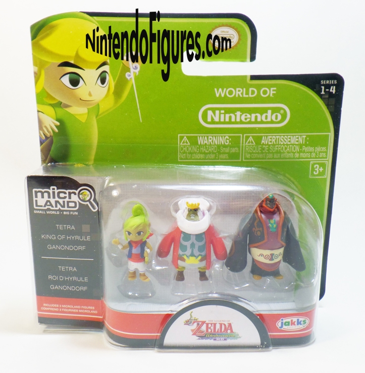 Legend of Zelda Wind Waker Micro Land King of Hyrule Tetra Ganon Figure Pack