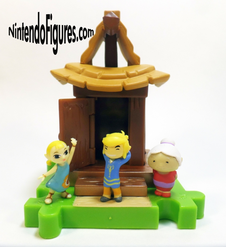 Legend of Zelda Wind Waker Micro Land Link Aryll Grandma Figures