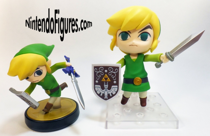 Link Wind Waker Nendoroid and Toon Link Amiibo
