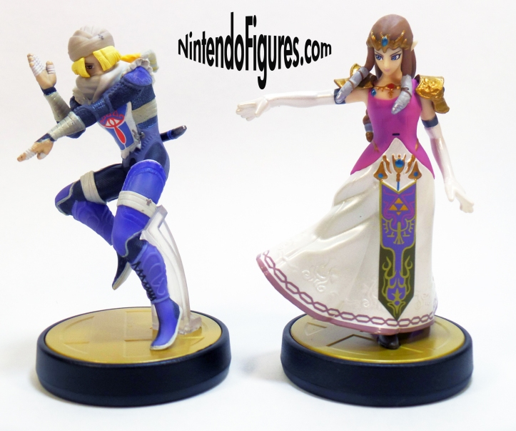 Princess Zelda and Sheik Amiibo 1