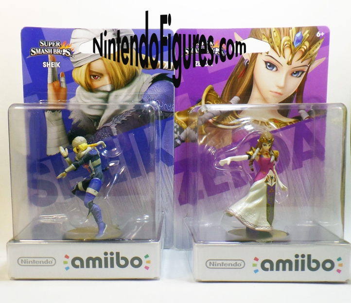 Princess Zelda and Sheik Amiibo Box