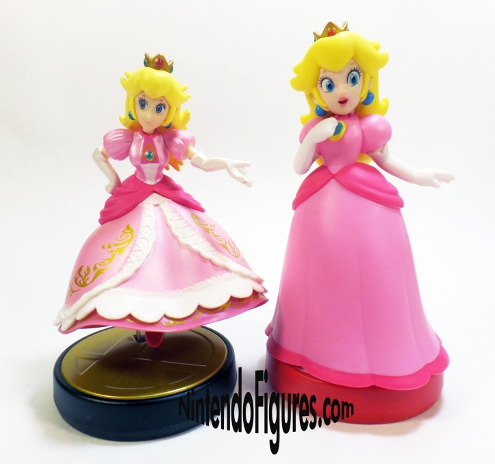 Smash Brothers Peach and Super Mario Peach Amiibo