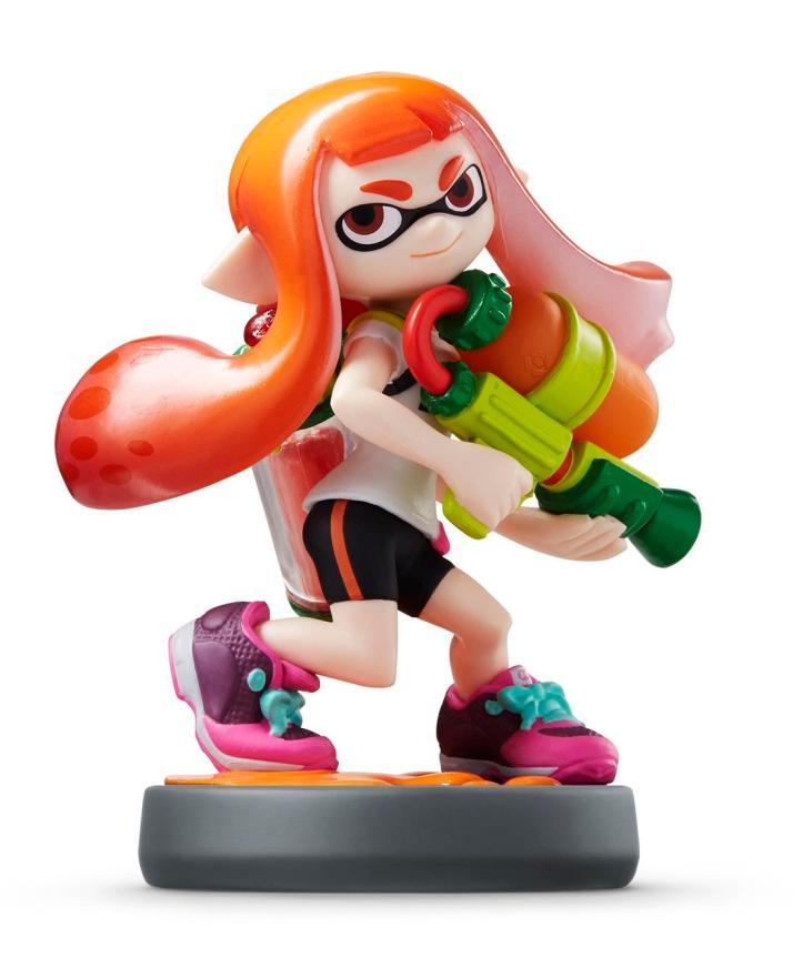 Splatoon Squid Girl Inkling Amiibo