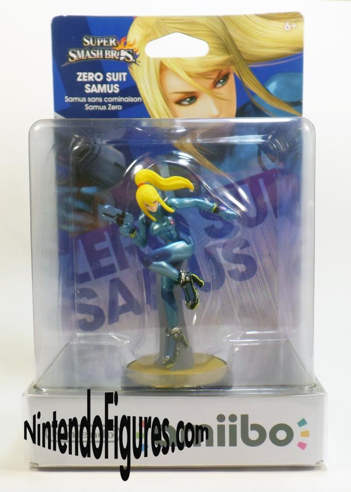 Zero Suit Samus Amiibo Box