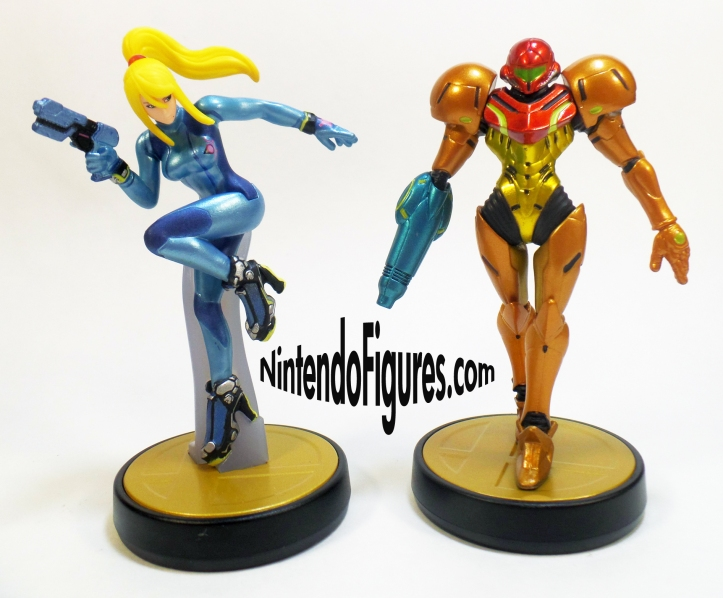 Zero Suit Samus and Samus Amiibo