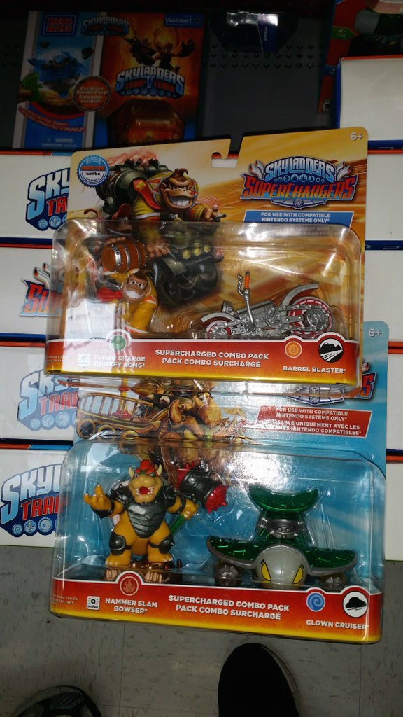 Donkey Kong and Bowser Skylanders Amiibo