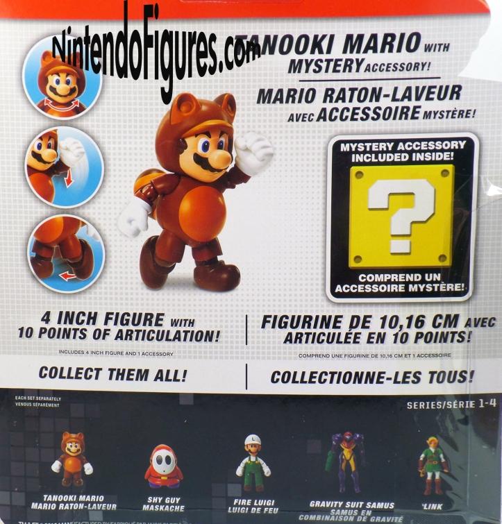 Tanooki Mario World of Nintendo 4- Figure Box Back