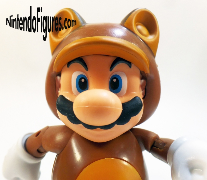Tanooki Mario World of Nintendo 4 Inch Figure Face