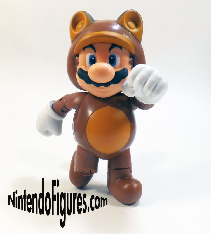 Tanooki Mario World of Nintendo 4 inch Figure Pose 1