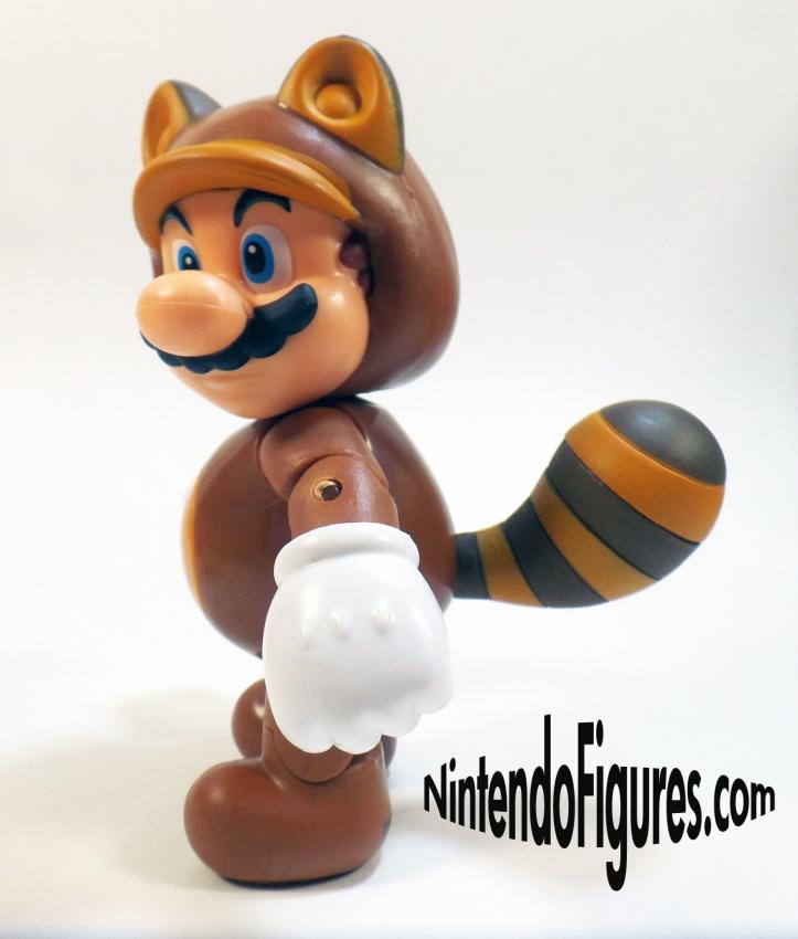 Tanooki Mario World of Nintendo 4 inch Figure Pose 4