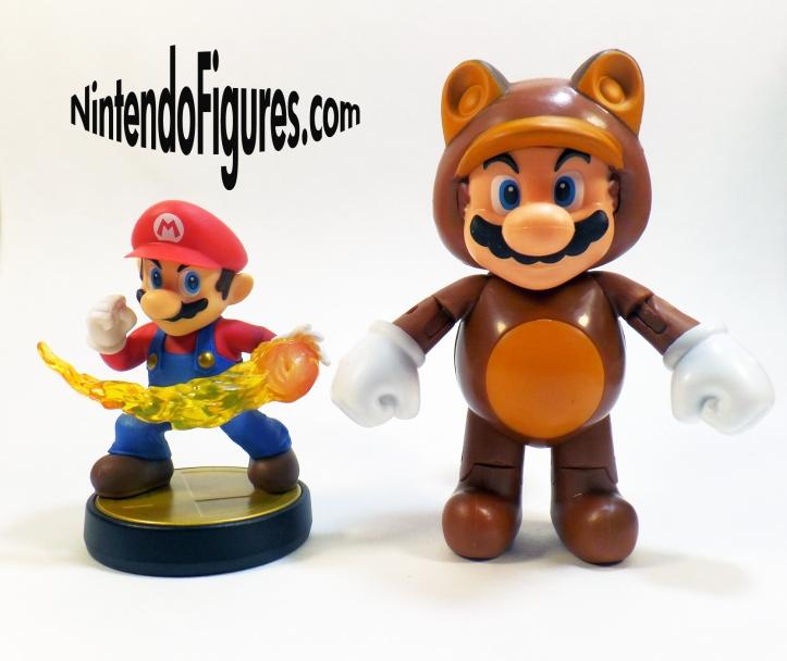 Tanooki Mario World of Nintendo 4 inch Figure Size Comparison