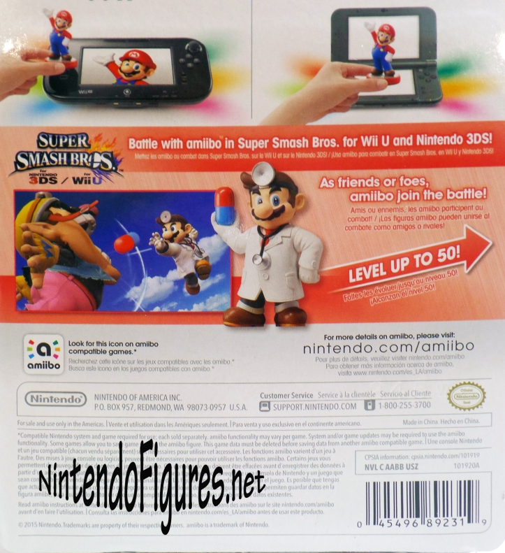 Dr Mario Amiibo Box Back
