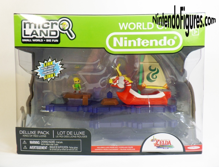 King of Red Lions Deluxe Playset Micro Land World of Nintendo Box