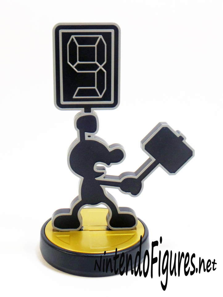 Mr Game and Watch Amiibo Hammer