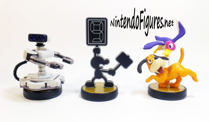 ROB Duck Hunt and Mr Game and Watch Amiibo