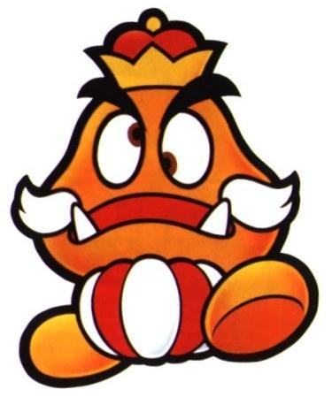 Paper Mario Goomba King