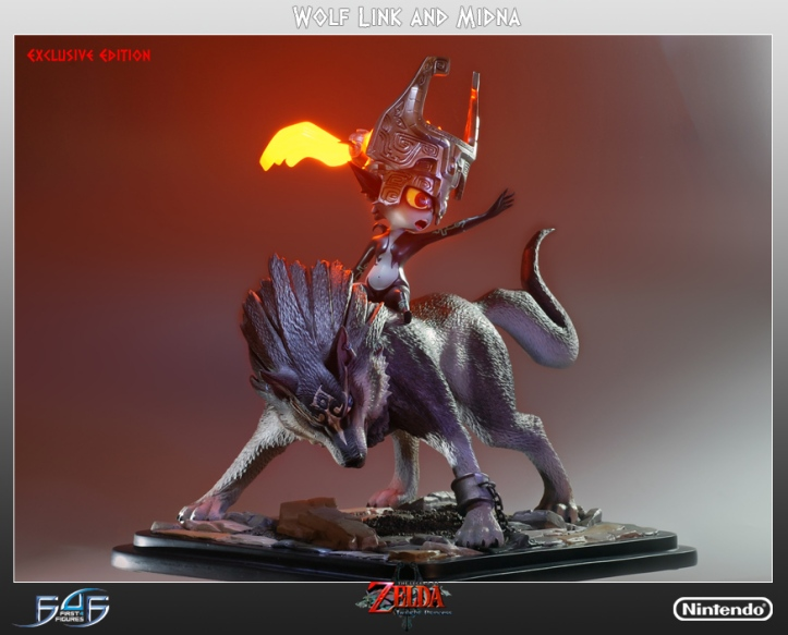 Wolf Link and Midna Exclusive Statue
