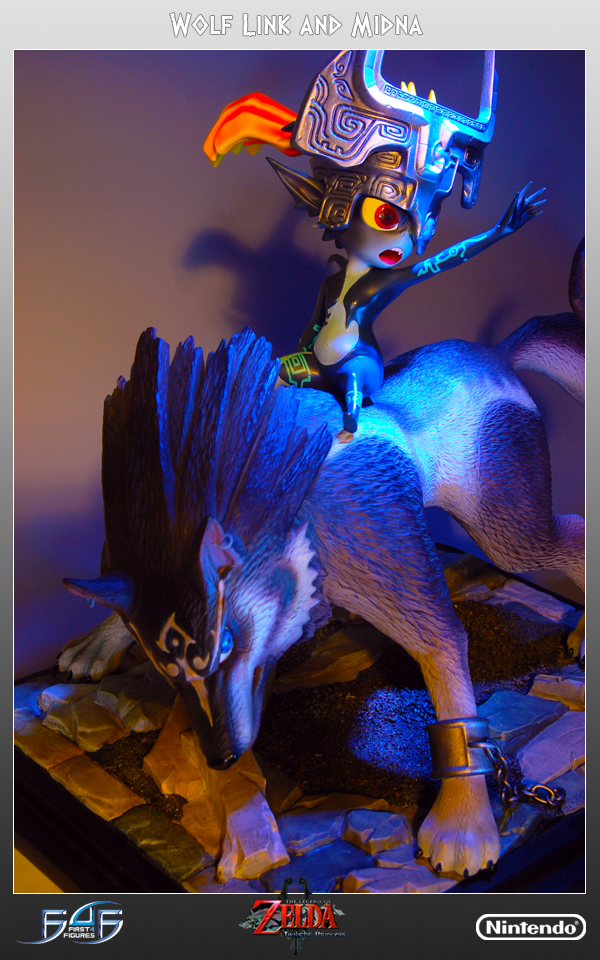 Wolf Link and Midna Statue
