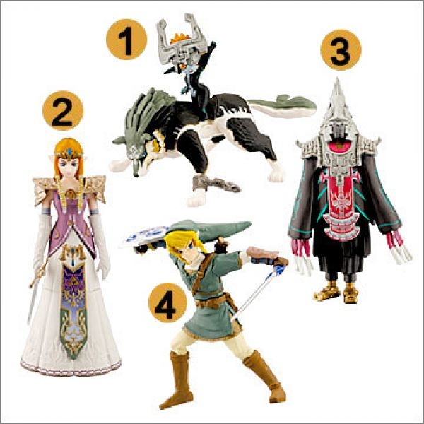 Zelda Twilight Princess Gashapon Figures