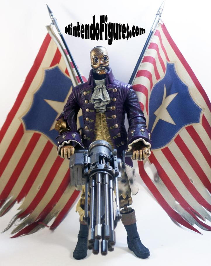 Motorized Patriot Figure Bioshock Infinite Neca Concept Figure Irrational Games with Flags