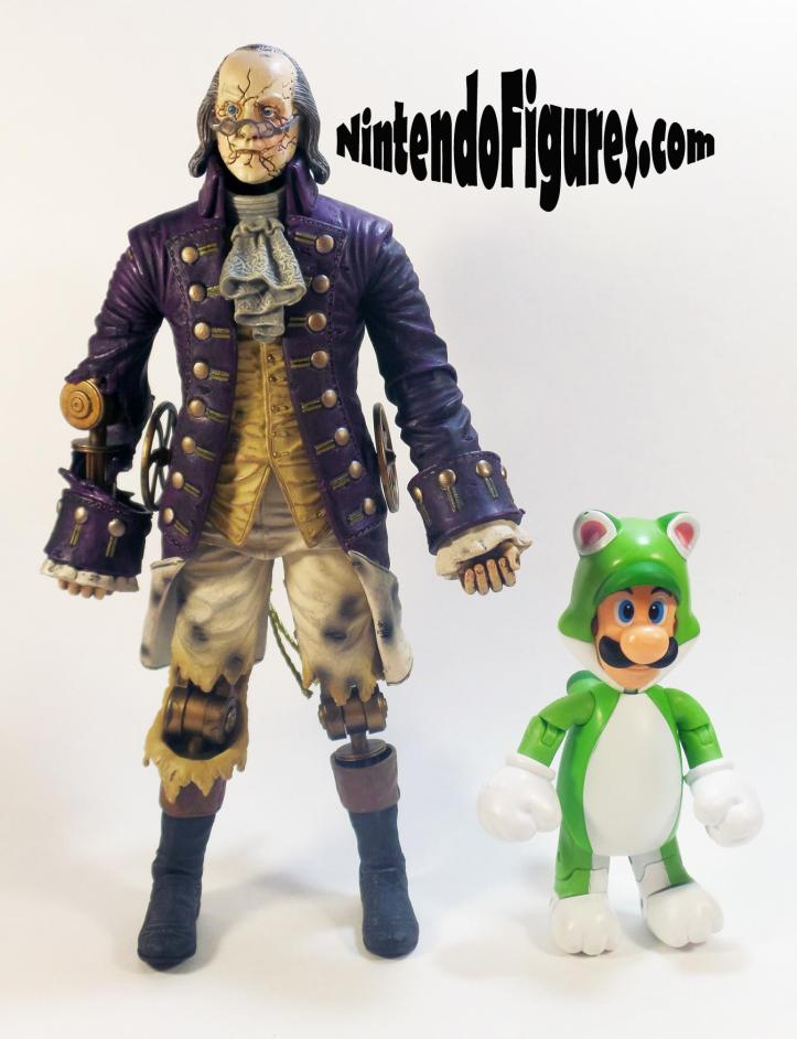 Bioshock Infinite Motorized Patriot Neca Ben Franklin Size Comparison 1