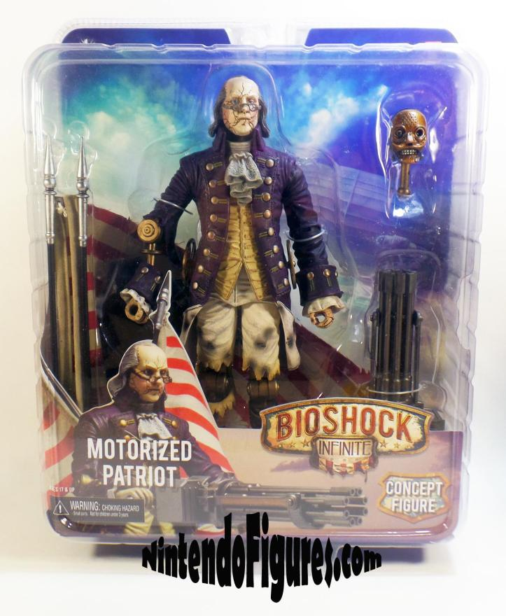 Motorized Patriot Bioshock Infinite Neca Ben Franklin Box Packaging Concept Figure Irrational Games