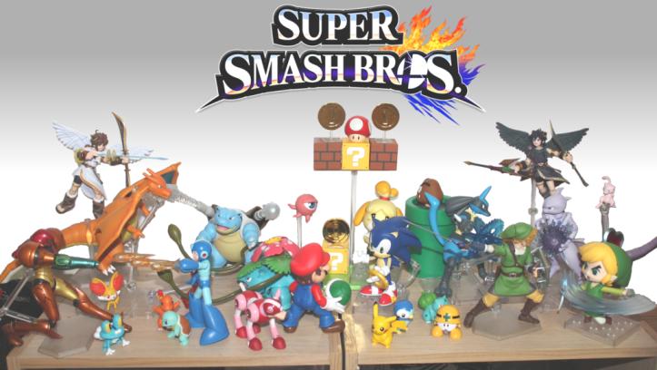 Smash Brothers Figure Display