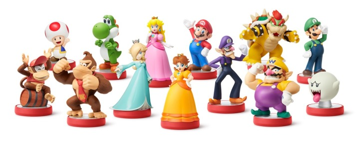 Super Mario Amiibo Group Shot