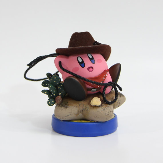 Cowboy Kirby Custom Amiibo