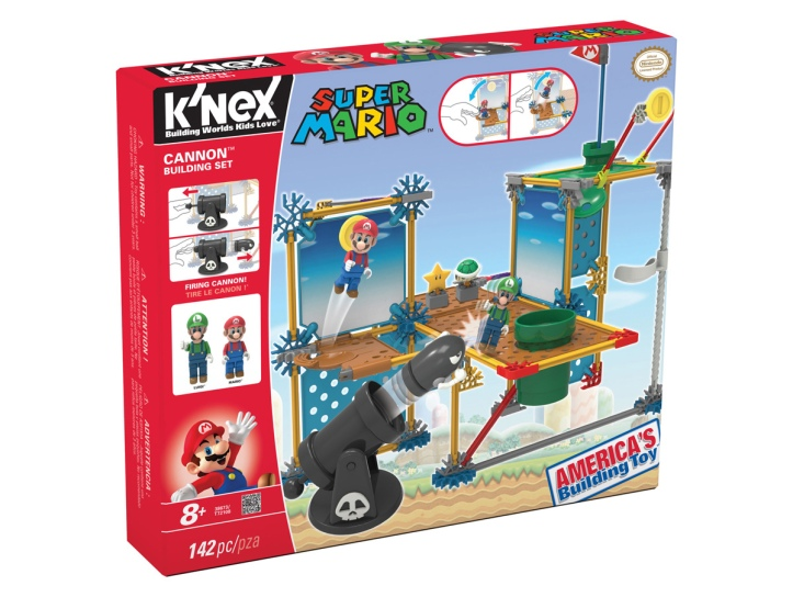 Super Mario Luigi Cannon Building Set K'nex