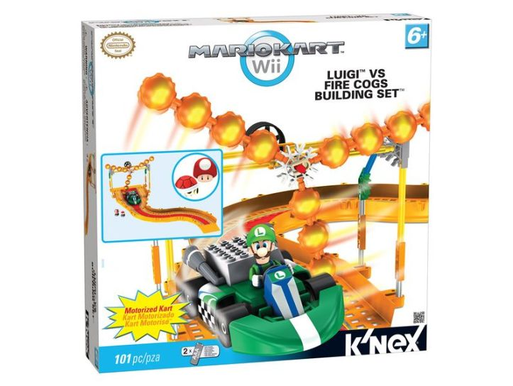 Luigi VS Fire Cogs Building Set K'nex
