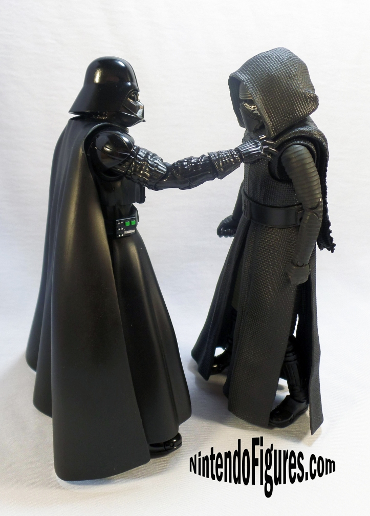 Kylo ren bandai and darth vader