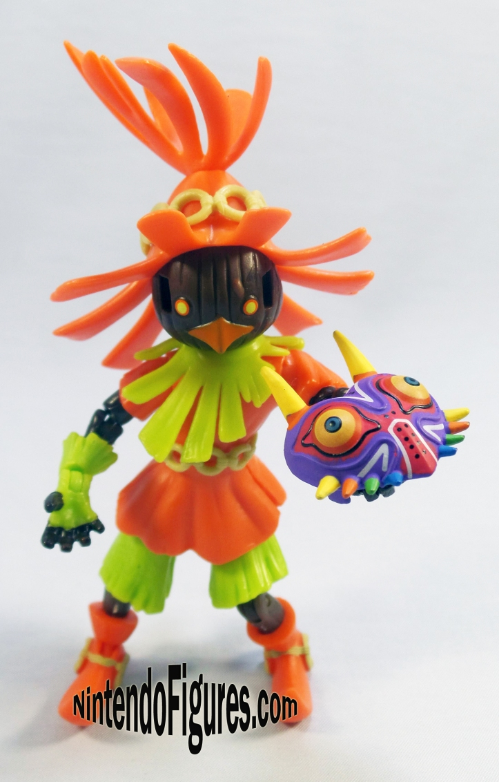 skull kid world of nintendo holding mask