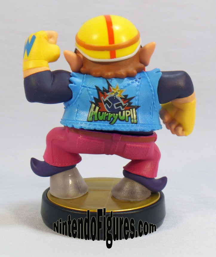 smash brothers wario amiibo back