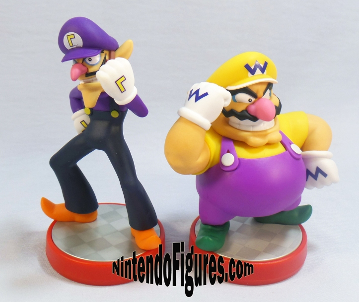 wario and Waluigi super mario amiibo