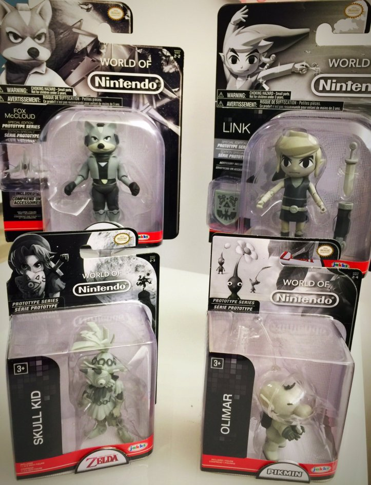world of nintendo prototype figures Fox McCloud Skull Kid Link Olimar