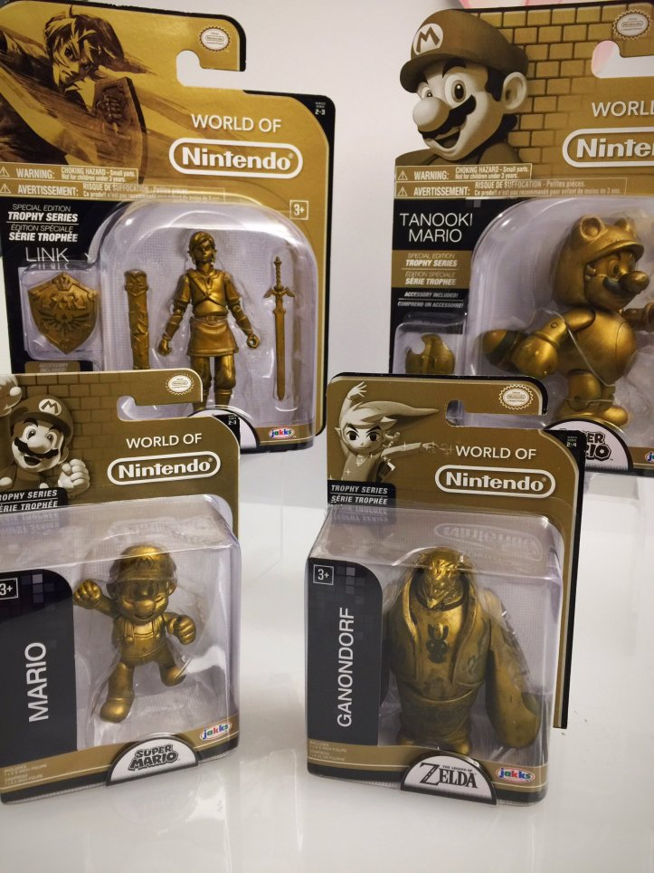 world of nintendo trophy series link tanooki mario ganondorf